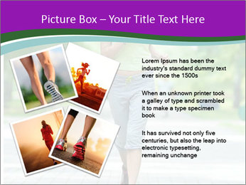 Running woman jogging in city street park at beautiful summer morning PowerPoint Template - Slide 23