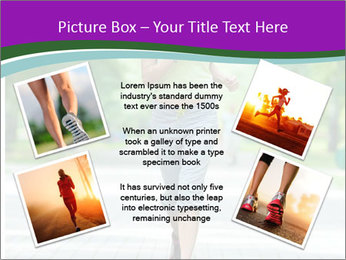 Running woman jogging in city street park at beautiful summer morning PowerPoint Templates - Slide 24