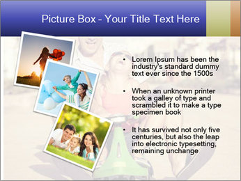 Father and little daughter playing near a house PowerPoint Template - Slide 17