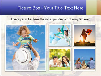 Father and little daughter playing near a house PowerPoint Template - Slide 19