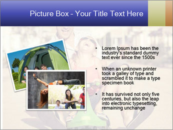 Father and little daughter playing near a house PowerPoint Template - Slide 20