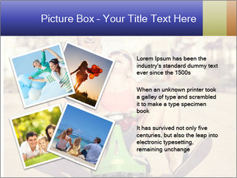 Father and little daughter playing near a house PowerPoint Template - Slide 23