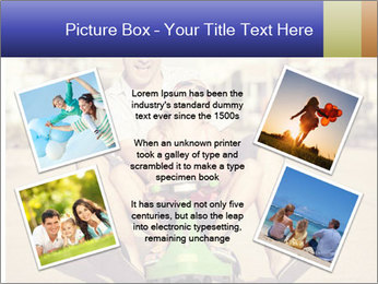 Father and little daughter playing near a house PowerPoint Template - Slide 24