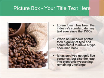 Pecan nuts in a burlap sack bag close up PowerPoint Template - Slide 13