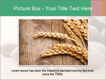 Pecan nuts in a burlap sack bag close up PowerPoint Template - Slide 15