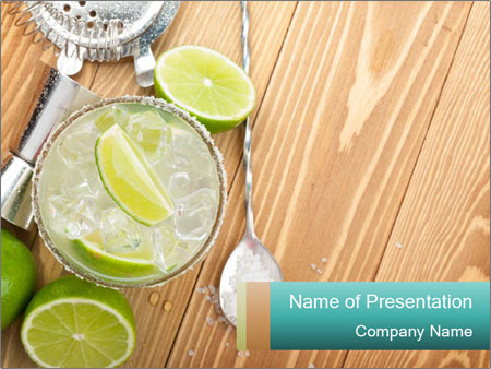 Classic margarita cocktail PowerPoint Templates