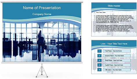 Businessman on the Phone PowerPoint Template