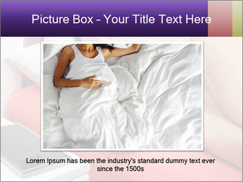 Beauty woman sleeping PowerPoint Template - Slide 15