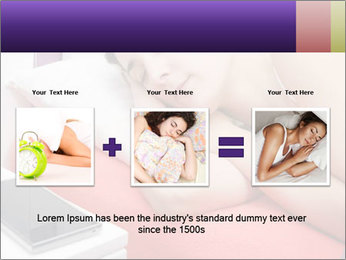 Beauty woman sleeping PowerPoint Template - Slide 22