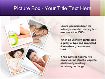 Beauty woman sleeping PowerPoint Template - Slide 23