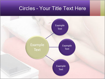 Beauty woman sleeping PowerPoint Template - Slide 79