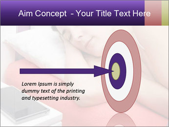 Beauty woman sleeping PowerPoint Template - Slide 83