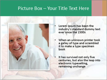 Elderly woman in consultation with her doctor PowerPoint Template - Slide 13