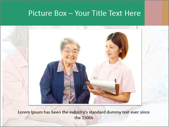 Elderly woman in consultation with her doctor PowerPoint Template - Slide 15