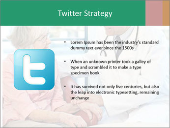 Elderly woman in consultation with her doctor PowerPoint Template - Slide 9