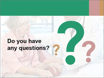 Elderly woman in consultation with her doctor PowerPoint Template - Slide 96