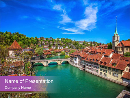 World treasure city PowerPoint Templates