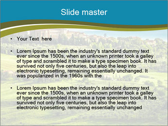 View of the town PowerPoint Templates - Slide 2