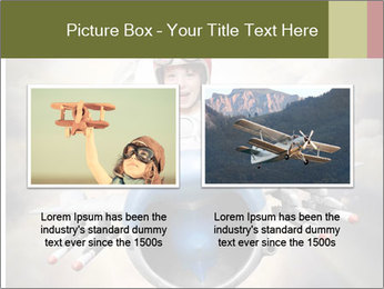 Happy little pilot flying in retro jet PowerPoint Template - Slide 18
