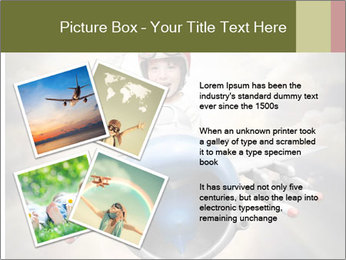 Happy little pilot flying in retro jet PowerPoint Template - Slide 23