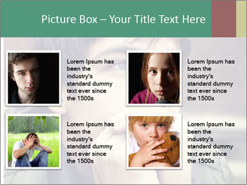 Toned of sad Teenager PowerPoint Template - Slide 14