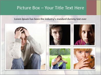 Toned of sad Teenager PowerPoint Template - Slide 19