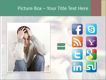 Toned of sad Teenager PowerPoint Template - Slide 21