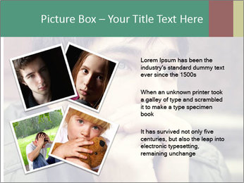 Toned of sad Teenager PowerPoint Template - Slide 23