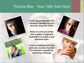 Toned of sad Teenager PowerPoint Template - Slide 24