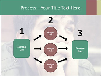 Toned of sad Teenager PowerPoint Template - Slide 92