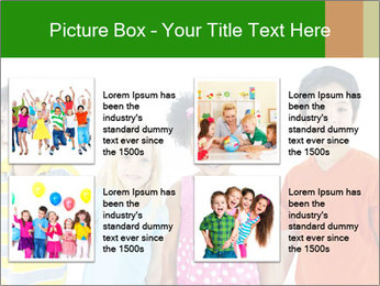 Kids holding hand PowerPoint Template - Slide 14