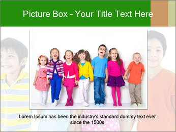 Kids holding hand PowerPoint Template - Slide 16