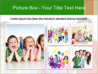 Kids holding hand PowerPoint Template - Slide 19
