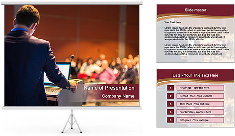 Speaker at Business Conference and Presentation PowerPoint Template