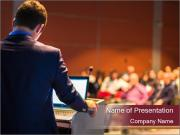Speaker at Business Conference and Presentation PowerPoint Templates