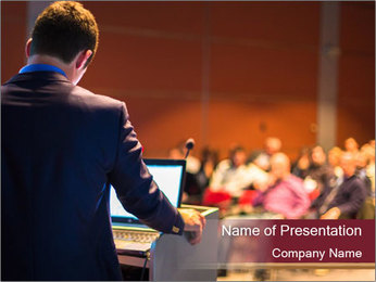 Speaker at Business Conference and Presentation PowerPoint Templates - Slide 1
