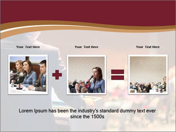 Speaker at Business Conference and Presentation PowerPoint Templates - Slide 22