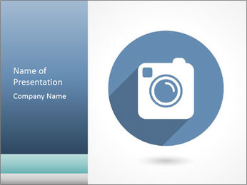 Hipster photo or camera icon PowerPoint Template