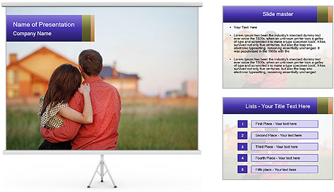 Couple looking PowerPoint Template