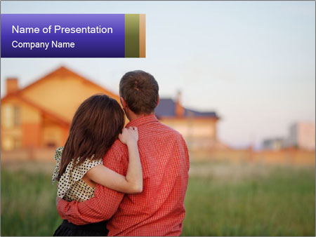 Couple looking PowerPoint Templates