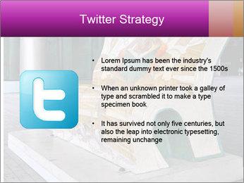 Beautiful design street bench PowerPoint Template - Slide 9