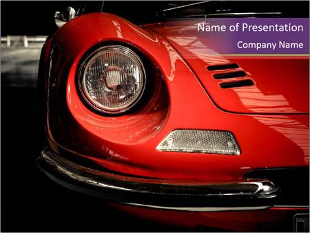 Berlin, Germany Ferrari PowerPoint Template
