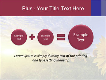 Sunflower field PowerPoint Templates - Slide 75