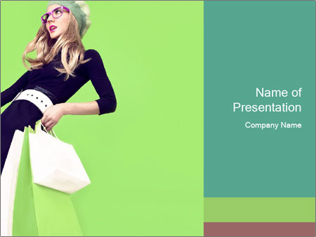 Fashion girl PowerPoint Templates