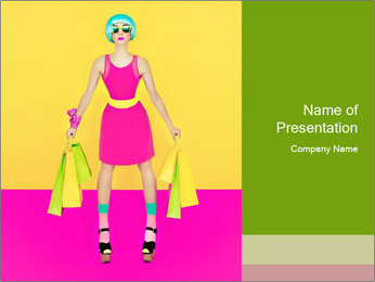 Crazy Shopping PowerPoint Template - Slide 1