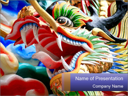 The dragon PowerPoint Templates