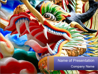 The dragon PowerPoint Template