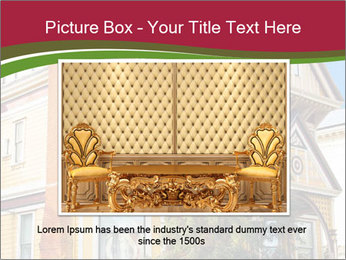 Victorian house in yellow PowerPoint Template - Slide 15