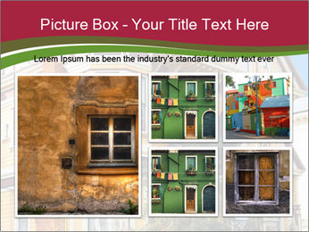 Victorian house in yellow PowerPoint Template - Slide 19