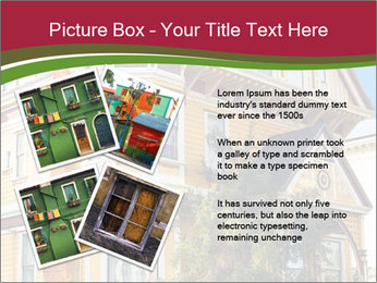 Victorian house in yellow PowerPoint Template - Slide 23
